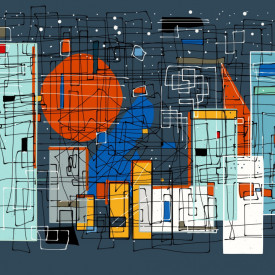 Tablou modular, Orașul abstract