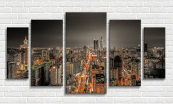 Tablou modular, Orașul în lumini