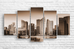 Tablou modular, Relieful orașului în stil sepia