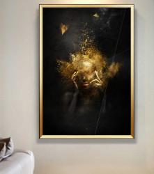 Tablou, Praful de aur