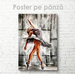 Постер, Balerină în rochie neagră