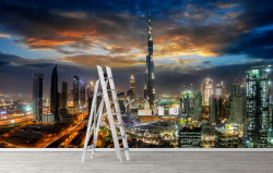Fototapet, Burj Khalifa și alți zgârie-nori