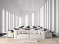 Fototapet, Cameră cu coloane