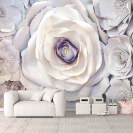 Fototapet, Flori de argint