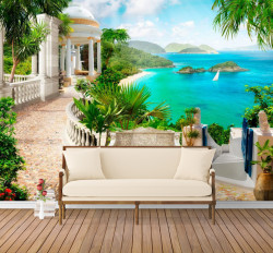 Fototapet Fresco, Vacanța pe insule