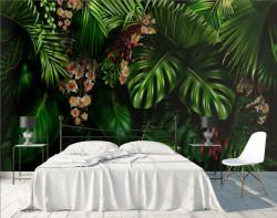Fototapet, Frunze tropicale de plante