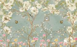 Fototapet, O pădure primăvara