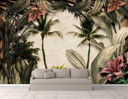 Fototapet, Palmieri și plante tropicale