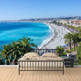 Fototapet, Priveliștea frumoasă a coastei mării