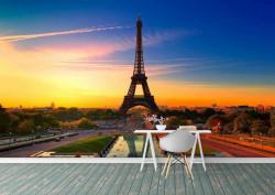 Fototapet, Turnul Eiffel în culori vii