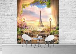 Fototapet, Un balcon cu Priveliște la Paris