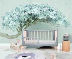 Fototapet, Un copac cu frunze albe
