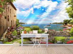 Fototapete 3D, Grădina de lângă mare