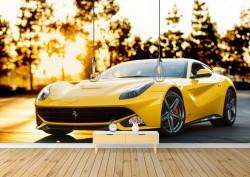 Fototapete, Ferrari galbenă