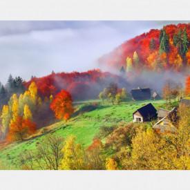 Fototapete Sat în munți