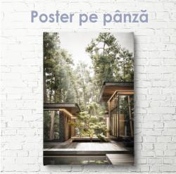Poster, Casă modernă în pădure