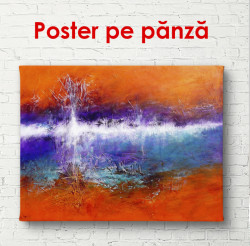 Poster, Fantezie în roșu și albastru