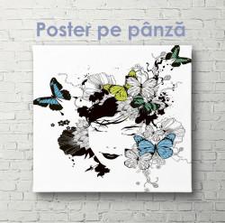 Poster, Fată cu fluturi 2