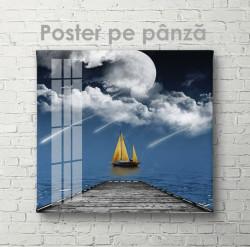 Poster, Iaht pe mare