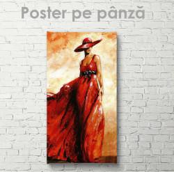 Poster, Lady în rochie roșie