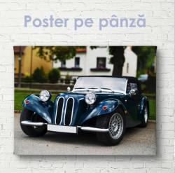 Poster, Mașină retro clasică în negru