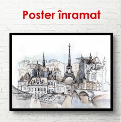 Poster, Parisul în nuanțe reci