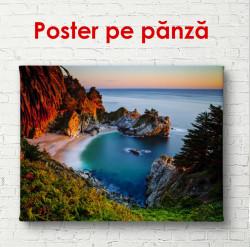 Poster, Peisajul marin la apusul