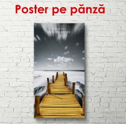 Poster, Podul de lemn de-a lungul lacului