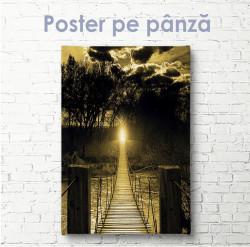 Poster, Podul de lemn peste râu