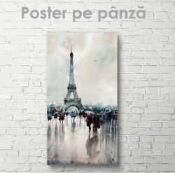 Poster, Turnul Eiffel în acuarelă