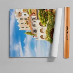 Stickere 3D pentru uși, Orașul frumos pe malul mării, 1 foaie de 80 x 200 cm