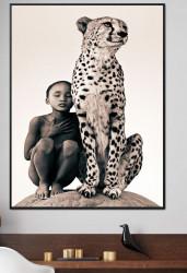 Tablou, Băiatul cu ghepard