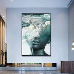 Tablou, Fată în apă