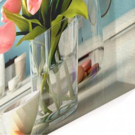 Tablou modular, Buchetul de lalele roz
