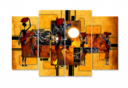 Tablou modular, Ilustrație vintage a oamenilor africani