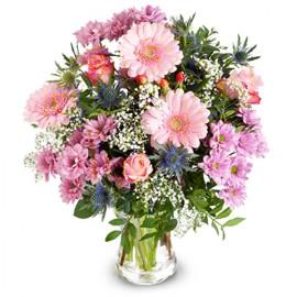 Poze Fericire Vesela: gerbera si trandafiri