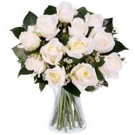 Dragoste Pura si Inocenta: 11 trandafiri albi