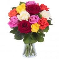 Rasarit de Soare: 11 trandafiri multicolori