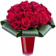 Dragoste Infinita: 25 de trandafiri rosii