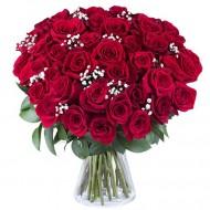 Dragoste Adevarata: 45 de trandafiri rosii
