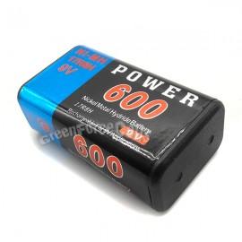 Poze Acumulatori baterii reincarcabile 9V 600 mAh NiMh