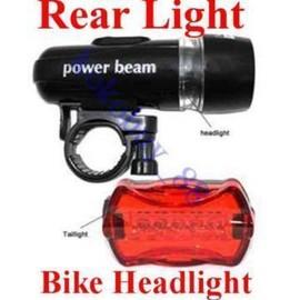Poze Lanterna pentru bicicleta 5 Led fata + 5 Led lampa spate