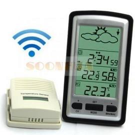 Poze Termometru interior exterior, barometru , ceas wireless LCD