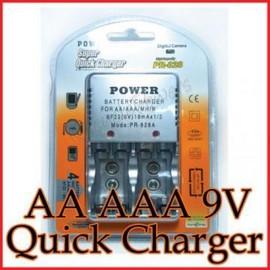 Poze Incarcator rapid acumulatori baterii reincarcabile 9V AA AAA