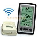 Termometru interior exterior, barometru , ceas wireless LCD