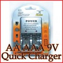 Incarcator rapid acumulatori baterii reincarcabile 9V AA AAA