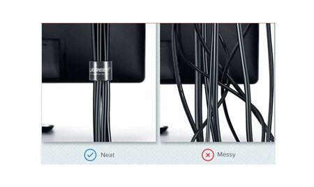 Banda organizare cabluri, marca Ugreen, 50 cm, Neagra