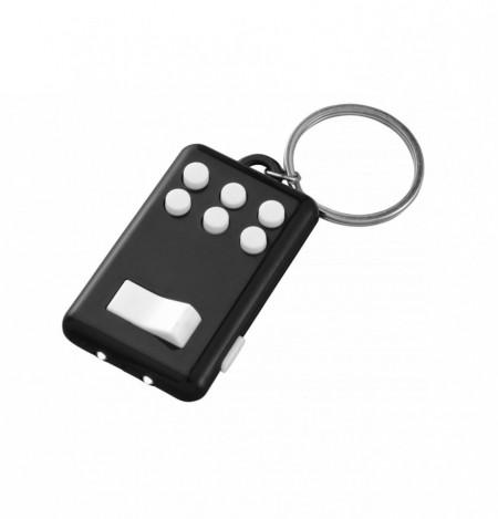 Breloc Flip & Click, lanterna 2 LED-uri, butoane Digitatie, anti-stres, concentrare, Negru