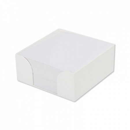 Cub hartie alba 10x10cm cu suport din material plastic, 300 file/cub