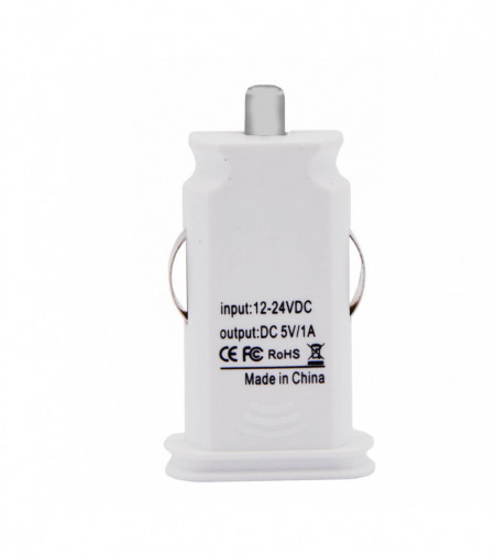 Incarcator Auto universal, compact, 5v 1000 mAh, USB, Alb